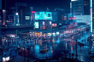 An image of Tokyo from Cody Ellingham's Derive series