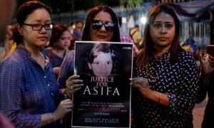 A protest march in Kolkata for Asifa Bano, an eight-year-old girl who was raped and murdered.