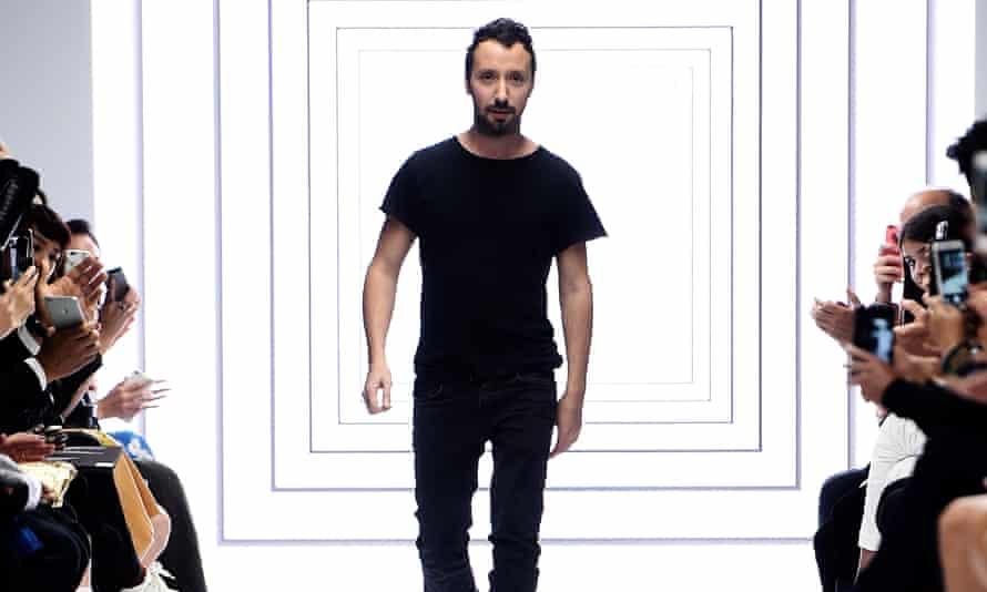 Saint Laurent designer Anthony Vaccarello.