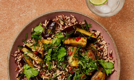 Meera Sodha's vegan recipe for nam jim aubergine salad with wild rice