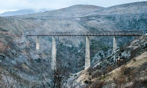 Great divide: the highest railway bridge in Europe near Kolasin in Montenegro.