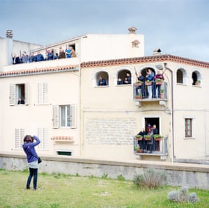 Gunshots for God … the citizens of Oliena, in Sardinia, shoot weapons during S' Incontru, a rite that celebrates Easter. The whole community, running to hundreds of people, meet in the village square