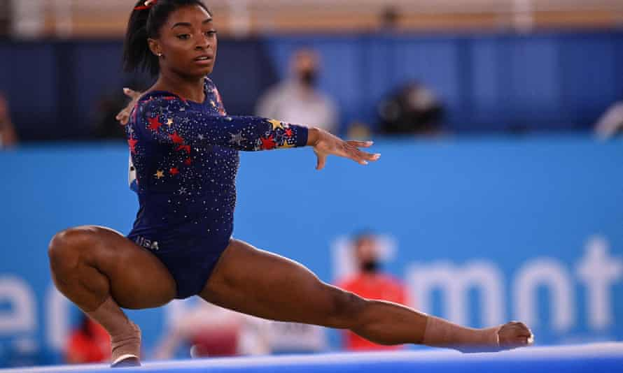 Simone Biles will not defend her Olympic title on the floor on Monday