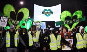 A silent candlelit march to mark the six-month anniversary of the Grenfell Tower fire