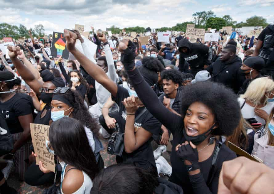 A Black Lives Matter protest this month … Bandcamp has announced it will fund the NAACP Legal Defense Fund amid the recent protests.