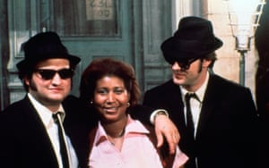 On the set of The Blues Brothers film in 1980