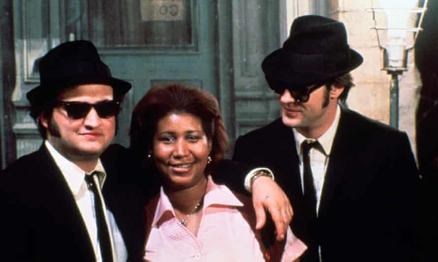 Aretha Franklin with John Belushi and Dan Aykroyd