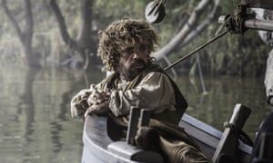 Rocking the boat: as Tyrion Lannister in a scene from Game of Thrones.
