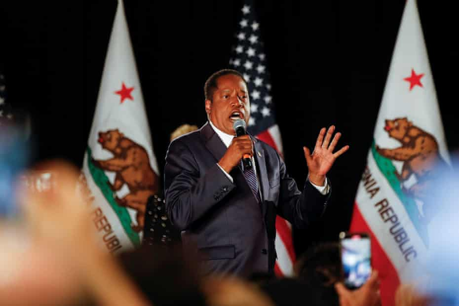 Larry Elder was the leading Republican challenger to incumbent governor Gavin Newsom.