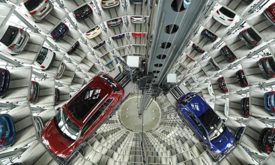 Volkswagen cars at the company's base in Wolfsburg.