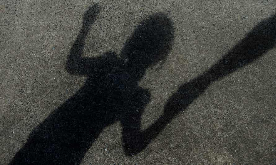 Stock image of a child's shadow