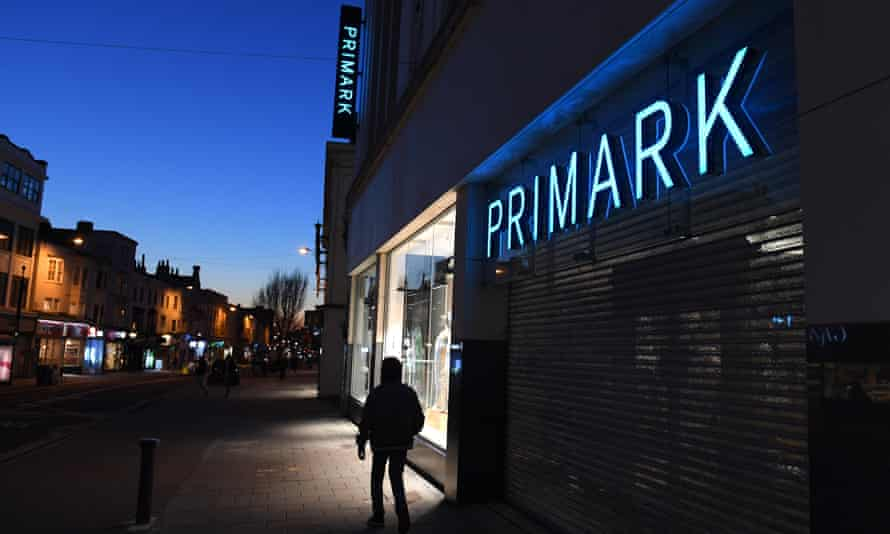 Shutters down at the Primark store in Brighton.