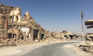 Slaloming through the debris … the devastated Sinjar in Isis: The Origins of Violence.