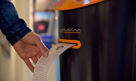 Short Édition story machines will soon appear at Canary Wharf.
