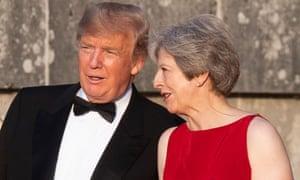 Donald Trump and Theresa May at Blenheim Palace.