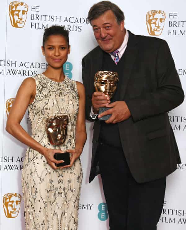 Gugu Mbatha-Raw and Stephen Fry at Friday's announcement.