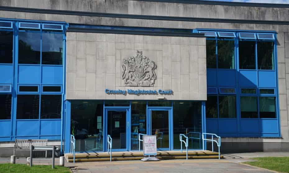 A general view of Crawley Magistrates' Court, West Sussex