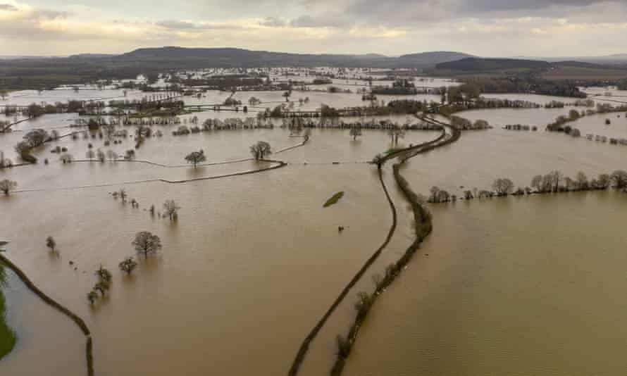 Flooding caused by Storm Dennis in Hereford