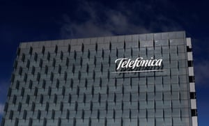 The Telefonica headquarters near Madrid, Spain
