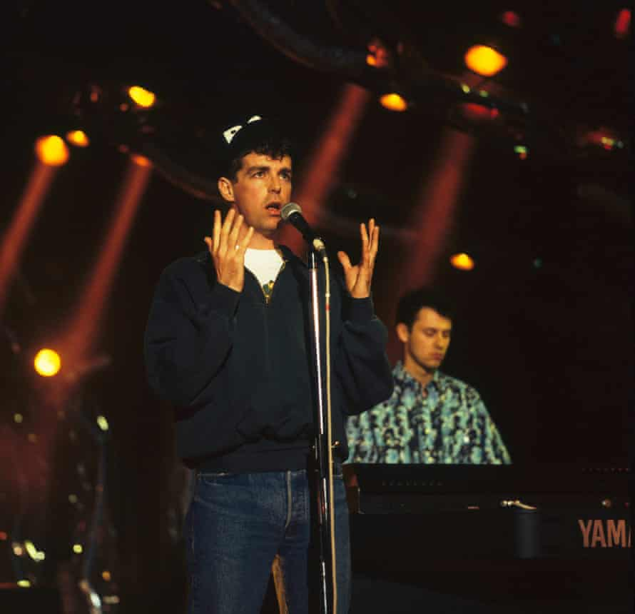 Pet Shop Boys on stage at the Montreux rock festival in 1986. Photograph: David Redfern/Redferns