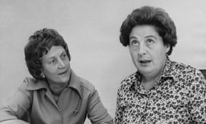 Betty Lockwood, right, with Elspeth Howe, her deputy at the Equal Opportunities Commission, at its offices in London in 1976.