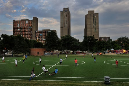 Soccer is an inner city sport in most of the world but seen as a suburban preserve in the US