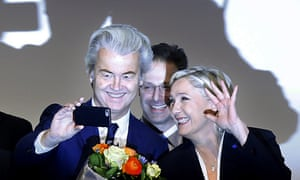 Dutch far-right leader Geert Wilders with his French counterpart Marine Le Pen. The Netherlands poll in March kicks off a year of key elections in Europe.