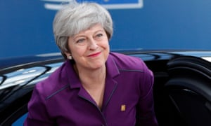 Theresa May at the EU leaders' summit in Brussels