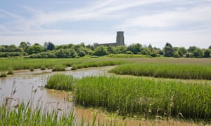 The River Blyth, with Blythborough church in the distance.