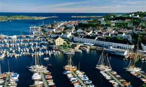 Risor on the south coast of Norway