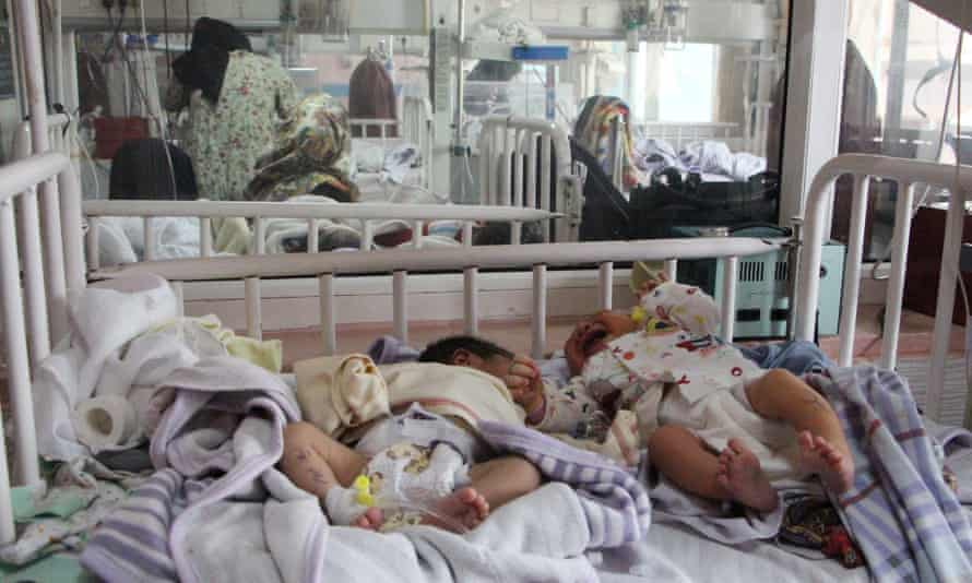 Babies who survived the attack receive medical care at another hospital in Kabul