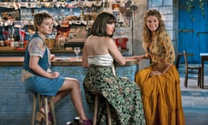 Alexa Davies Jessica Keenan Wynn and Lily James in a scene from Mamma Mia! Here We Go Again.