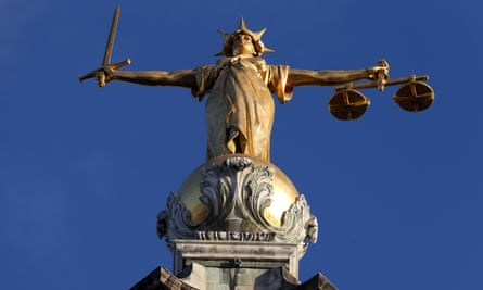 Statue of Lady Justice at the Old Bailey, London