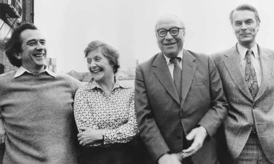 Shirley Williams with, from left, Bill Rodgers, Roy Jenkins and David Owen – the Gang of Four – in 1981 after their announcement of the launch of a new political party. 'Shirl the Pearl', as she was dubbed, was adored particularly by female voters and especially in Labour seats where the SDP hoped to prosper.
