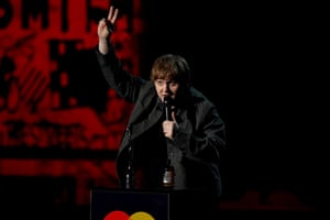 Scottish singer-songwriter Lewis Capaldi won two Brits – best new artist and best song for Someone You Loved.