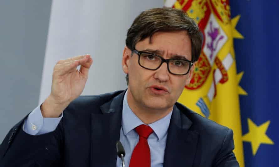 Spain's outgoing health minister, Salvador Illa.