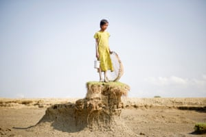 A rise in sea levels has washed away more than 50% of Ghoramara island since the 1980s, prompting two-thirds of its population to leave. Daesung Lee has been selected as a finalist in the professional contemporary issues category of the 2013 Sony world photography awards for her images of islanders.