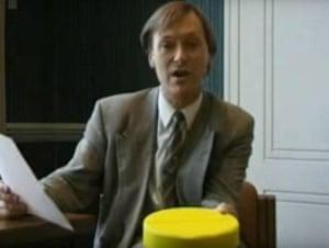 The MP David Amess talks about 'Cake' on Brass Eye.