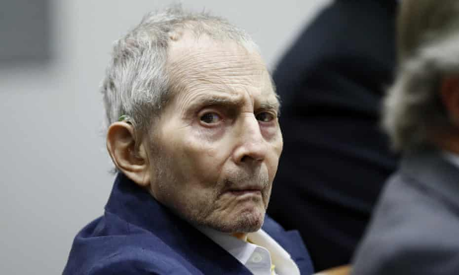 Real estate heir Robert Durst in court this month during his murder trial.