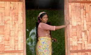 A Muslim woman in Inn Din village near Kyauk Taw, Rakhine State