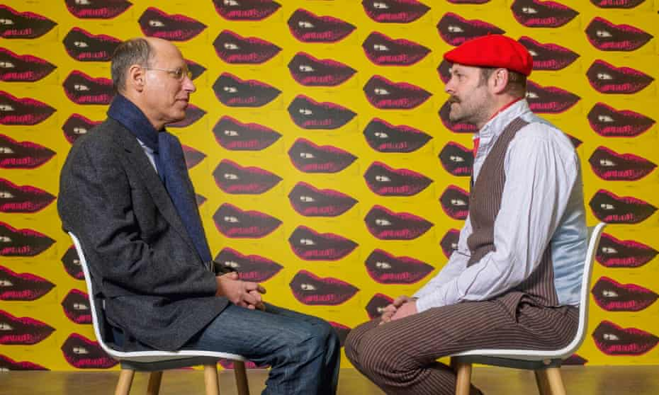 Gavin Turk (right) with psychoanalyst Darian Leader