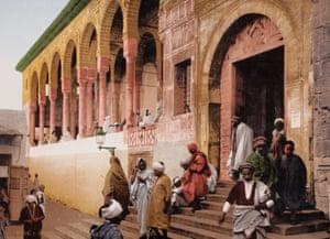 Mosque of El-Zituna in Tunis, Tunisia. 1896