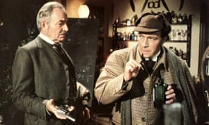 James Mason as Dr Watson and Christopher Plummer as Sherlock Holmes in Murder by Decree, 1979