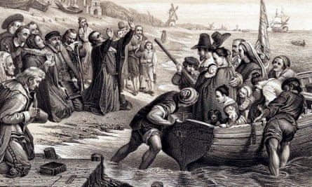 The Pilgrim Fathers leave Delft Haven on their voyage to America, July 1620
