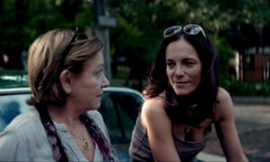Ana Brun as Chela and Ana Ivanova as Angy in The Heiresses.