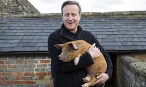 David Cameron visits Coggs farm in Witney, Oxfordshire.