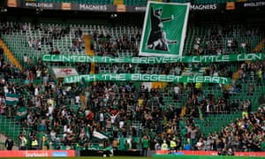 The safe standing area at Celtic.