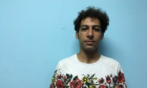 Amin, 27, an Iranian refugee in Belgrade