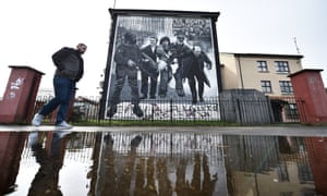 Bloody Sunday mural in the Rossville Street area, Derry.