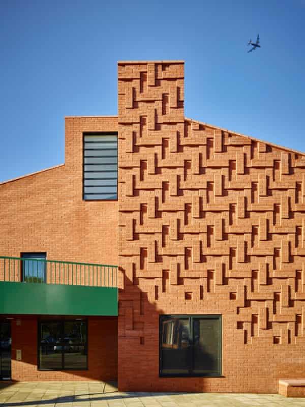 The herringbone brick pattern borrowed from the pub across the road.